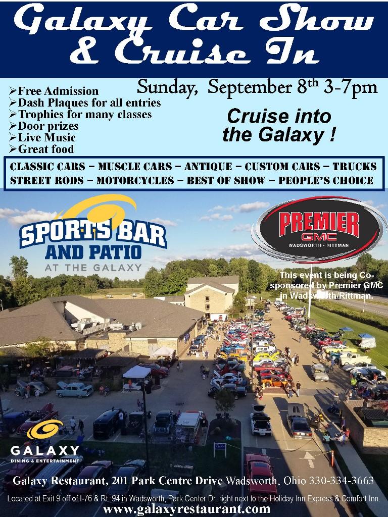 Galaxy Car Show at The Galaxy Restaurant in Wadsworth, Ohio near Akron